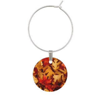 Autumn Leaves - Fall Color Wine Glass Charms
