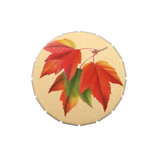 Autumn Leaves Fall Colors Maple Leaf on Gold Candy Tin