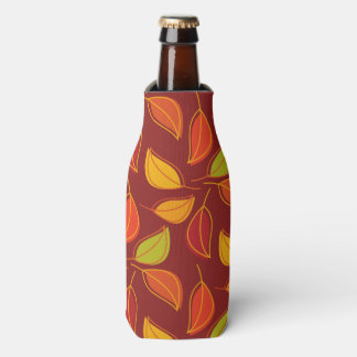 Autumn Leaves, Fall Foliage - Orange Yellow Red Bottle Cooler