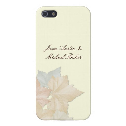 Autumn Leaves, Fall Wedding Floral iPhone 5/5 Case iPhone 5 Cases