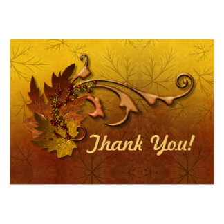Autumn Leaves Fall Wedding -Thank You Business Cards
