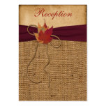 Autumn Leaves, FAUX Burlap Enclosure Card - Wine Pack Of Chubby Business Cards