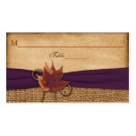 Autumn Leaves FAUX Burlap Place Card Pack Of Standard Business Cards