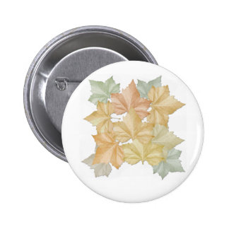 Autumn Leaves First Day Of Fall Button Name Tag