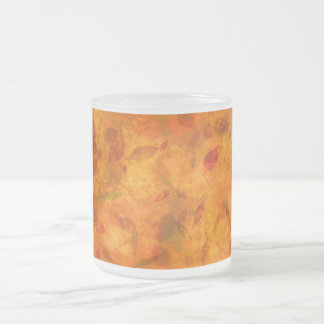 Autumn leaves frosted mug