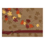 Autumn Leaves Gift Tag Business Card