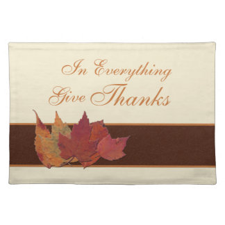 Autumn Leaves Give Thanks Placemat