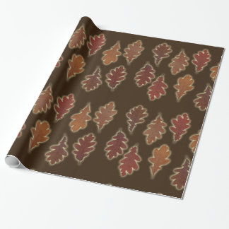 Autumn Leaves Glow on Custom Color Wrapping Paper