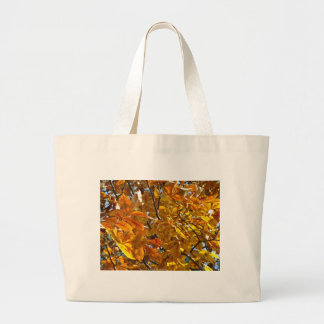 Autumn Leaves Gold Gifts Apparel Collectibles Jumbo Tote Bag