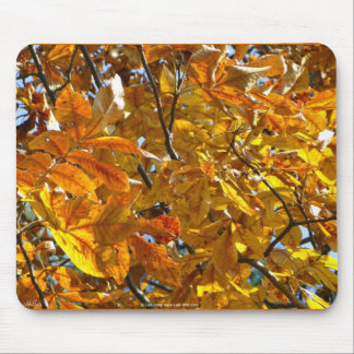 Autumn Leaves Gold Gifts Apparel Collectibles Mouse Pad
