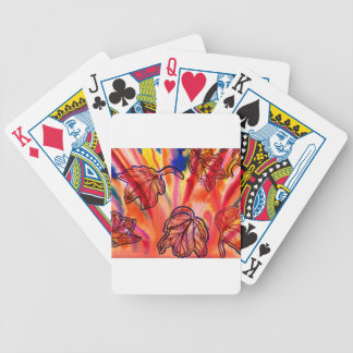 Autumn Leaves Golden Bicycle Playing Cards