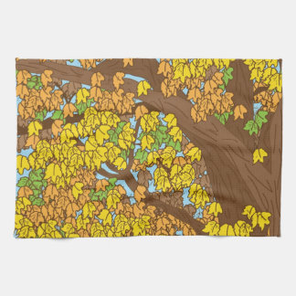 Autumn Leaves Hand Towels