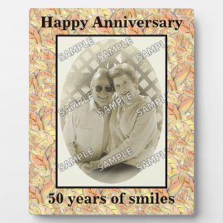 Autumn Leaves Happy 50th Anniversary Add Photo Display Plaques