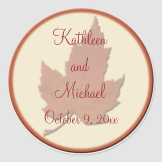 "Autumn Leaves II 1.5"" Diameter Round Sticker"