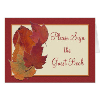 Autumn Leaves II Table Card