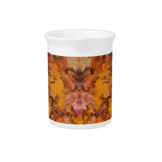 Autumn leaves in abstract pitcher