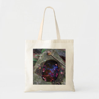 Autumn leaves in Japanese pond Tote Bag