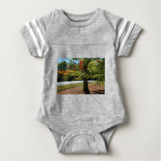 Autumn Leaves in Maine Baby Bodysuit