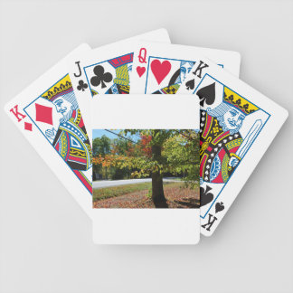 Autumn Leaves in Maine Bicycle Playing Cards