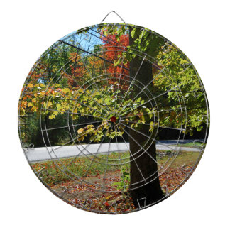 Autumn Leaves in Maine Dartboards
