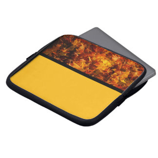 Autumn Leaves in Orange and Yellow Laptop Sleeves