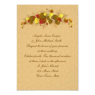 Autumn Leaves 5x7 Paper Invitation Card