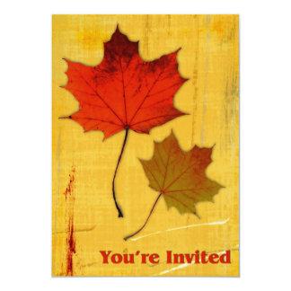"Autumn Leaves Invitation 5"" X 7"" Invitation Card"