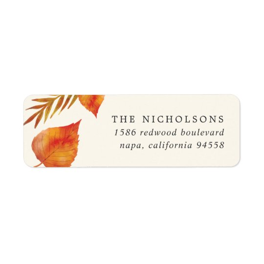 Autumn Leaves | Ivory Return Address Return Address Label