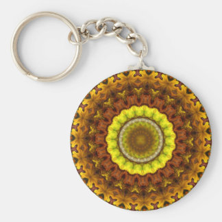 Autumn Leaves Kaleidoscope Mandala Key Chains