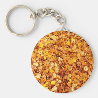 Autumn Leaves Key Ring Basic Round Button Key Ring