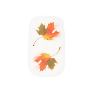 Autumn Leaves Minx Nail Art