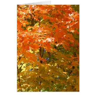 Autumn Leaves Mix Card