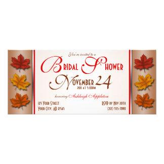 Autumn Leaves November Bridal Shower Invitations