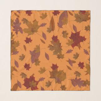 Autumn Leaves on Custom Color Scarf