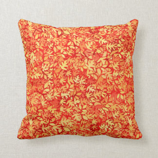Autumn leaves, orange and gold throw pillow