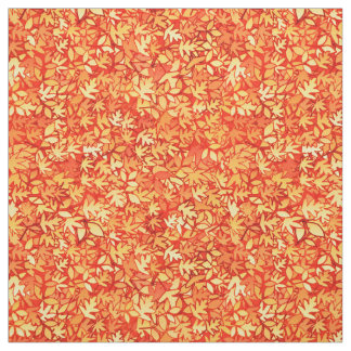 Autumn leaves, orange and gold fabric