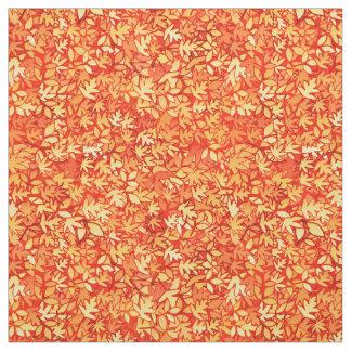Autumn leaves, orange and gold fabric