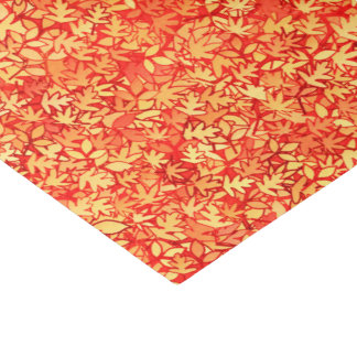 Autumn leaves, orange and gold tissue paper