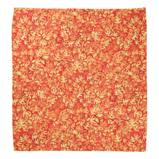 Autumn leaves, orange and gold head kerchief