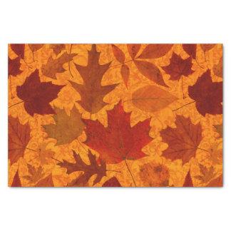 Autumn Leaves Orange Tissue Paper