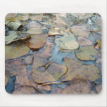 AUTUMN LEAVES OVER WATER MOUSEMATS