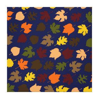 Autumn Leaves Pattern Canvas Print