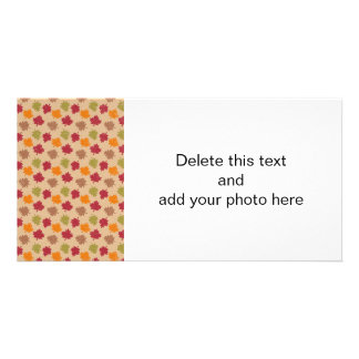 Autumn Leaves Pattern Customized Photo Card