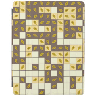 Autumn leaves pattern iPad cover