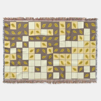 Autumn leaves pattern throw blanket