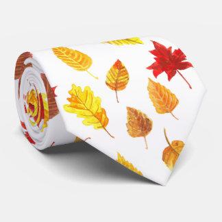 Autumn leaves pattern tie