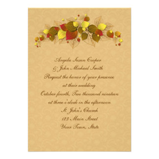 Autumn Leaves Personalized Invites