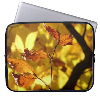 Autumn leaves photo print laptop sleeve