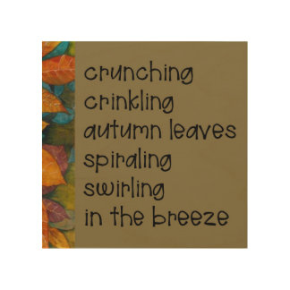Autumn Leaves Poem Wood Wall Decor