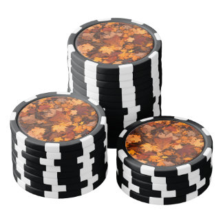 Autumn Leaves Poker Chips